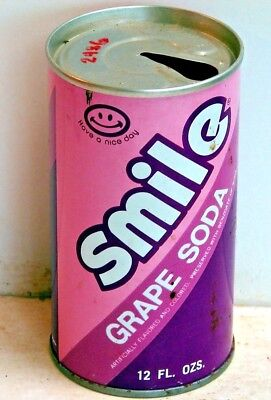 Smile Grape Soda; Miss-Ark-Tenn Pkg. Corp.; Collierville, TN; steel soda Pop Can