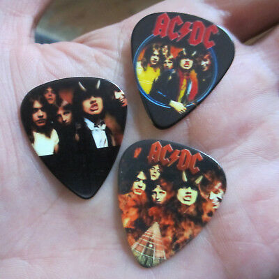 AC/DC (Rock Band) Novelty Guitar Pick 3-Lot; 'Highway to Hell' Theme Picks Lot
