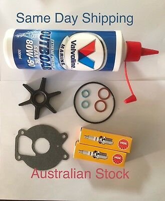 Outboard Service Kit With Gear Oil Suit Mercury Mariner 20hp + 2 Seals.