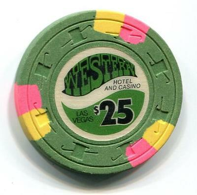 Vegas Nv WESTERN HOTEL $25 Casino Chip 1st issue CR#N2555 Low Book $60