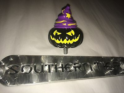 """SOUTHERN TIER Tap Handle With WARLOCK PUMPKIN TOPPER!  New items! 15"""" length."""