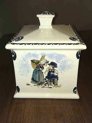 Made in France Ceramic Container With Lid By Lydie