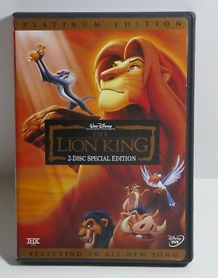 Walt Disney The Lion King (DVD, 2003, 2-Disc Set, Platinum Edition)