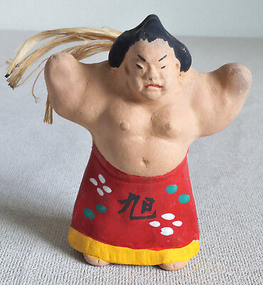 "3"" Japanese  Clay Bell Dorei : design Sumo wrestler"