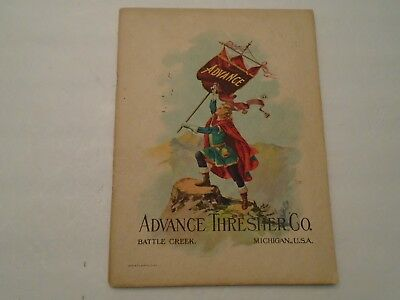 Vintage 1910-11 Year Book Of Advance Threshing Machinery No. 24 Complete 80 Pgs.