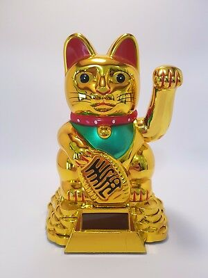 "Gold Waving Money Cat (Maneki Neko) 170mm ""Good Luck"" (Post or Local Pickup)"