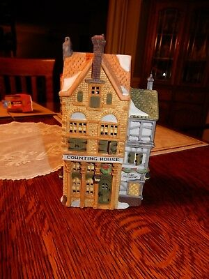 """Dept 56 Dickens' Village Series, """"Silas Thimbleton Barrister"""" Counting House"""