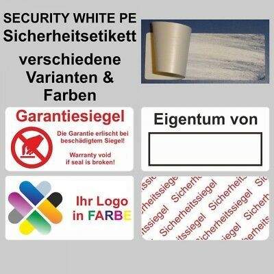Security White Pe - Security Labels on Roll - 40 x 20 mm / Siegelaufkl