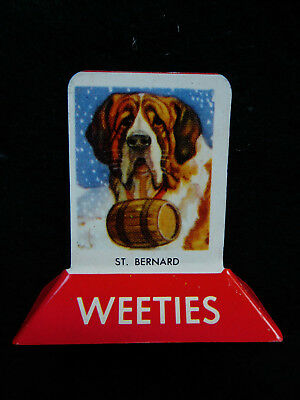 Vintage Weeties tin stand up tin cereal advertising toy ST. BERNARD EC