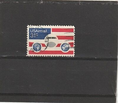 USA 1976 Airmail 31c Airmail Jetliner-Stars & Stripes Single Fine Used
