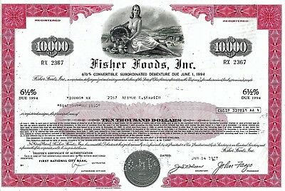Fisher Foods Inc. 1977, 6 1/2% Convertible Subord. Debenture due 1994 (10.000 $)
