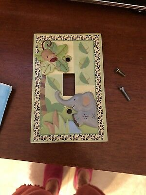 Baby Jungle Themed Switch Plate