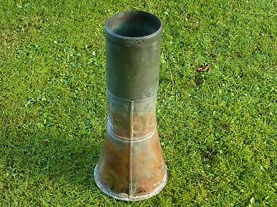 "Rare Antique Splayed Base Victorian Met Office Rain Gauge, 5"" Copper and Brass"