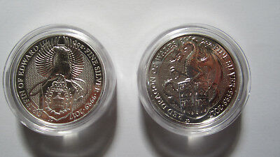 2 oz  The Queens BeastsThe Red Dragon of England plus 2 oz Griffin of Edward III