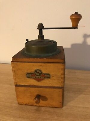 KYM Vintage Wooden Manual COFFEE GRINDER/MILL Retro Design
