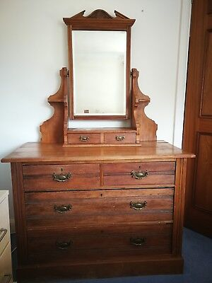 Antique Dresser with mirror and 2 small drawers