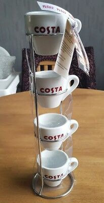 Costa Coffee. Stacking Espresso Cups. New With Tags.