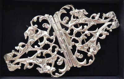 Hallmarked Solid Silver Nurses Belt Buckle Johnson Brothers Excellent Condition