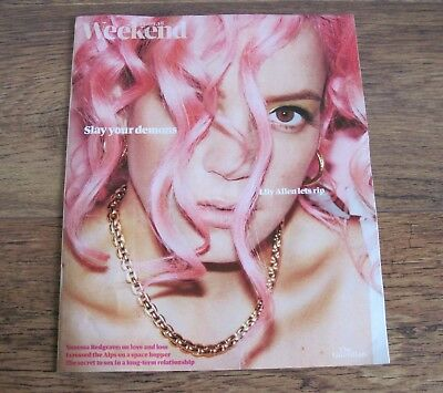 LILY ALLEN Guardian Weekend Magazine cover and feature September 15 2018.