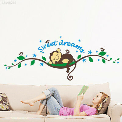 1ABB Kids Monkey Sweet Dream Removable Wall Sticker Pasters Decal Baby Decor