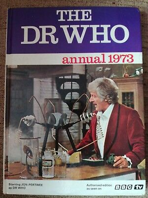 Dr Who Doctor Who Jon Pertwee 1973 Annual Book