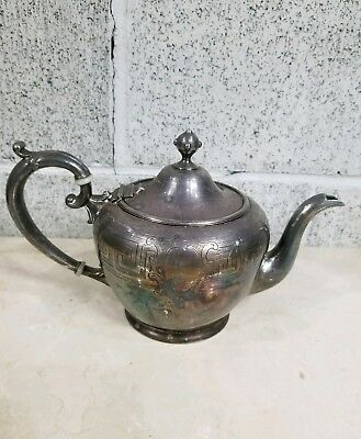 Antique 1800s Reed and Barton Silverplate Pitcher Tea Pot