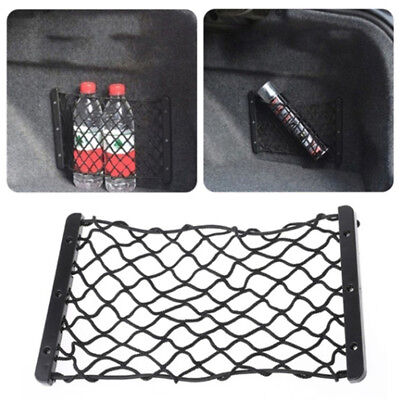 Car Auto Back Rear Trunk Seat Elastic String Net Mesh Storage Bag Pocket Black