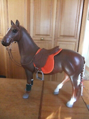 "Battat Horse ""Morgan"" with bridle & saddle for Our Generation American Girl doll"