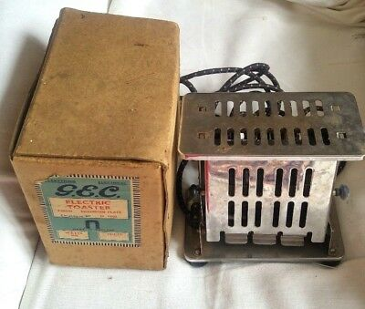 Vintage 1930s/1940s two slice GEC Electric Toaster with original box