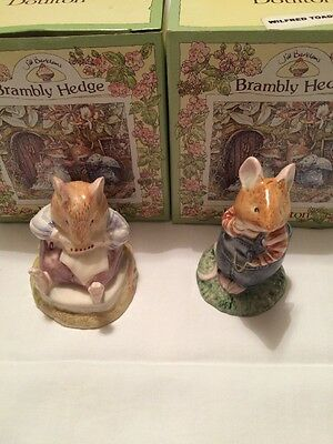 Royal Doulton Brambley Mr Toadflax and Wilfred Toadflax NEW