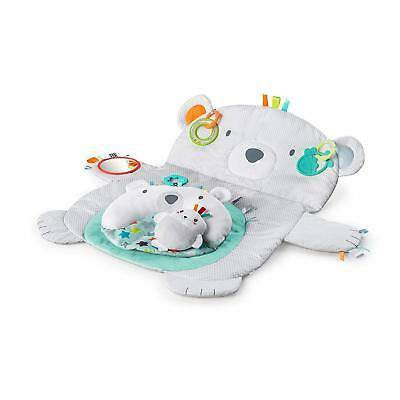 Soft Tummy Time Prop & Play Portable Floor Activity Playmat Rug for Baby