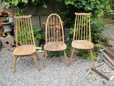 vintage Ercol Windsor chairs