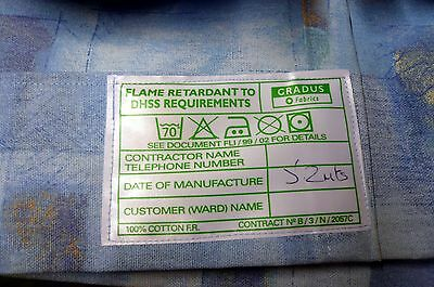 "One pair of large flame retardant very heavy curtains 1"" heading 204""w by 79""d"