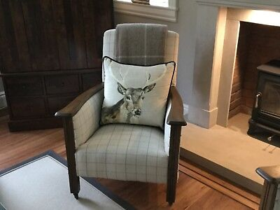 Art Deco Armchair in John Lewis fabric