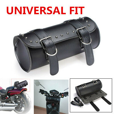 Waterproof Synthetic Leather Motorcycle Round Front Fork Tool bag for Harley NEW