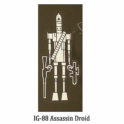 Star Wars Decal: IG-88 Assassin Droid (65x135mm) a bounty hunter
