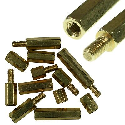 M3 Brass Hexagonal Hex Standoffs Spacers 4/10/25/50/100Pcs Uk Stock Free Postage