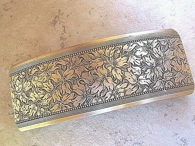 Large Antiqued Brass Barrette for Thick Hair Genuine French Clip NEW USA 6018