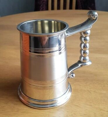 Vintage. A.R. Wentworth of Sheffield.  Pewter Tankard. Boxed.