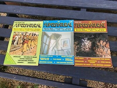 3 x Exploring the Supernatural Magazine 1987 Wicca Magic Occult Myths Astrology