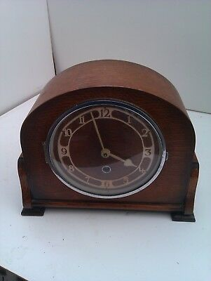 A Very Old Non Chiming Mantle Clock In Full Working Order
