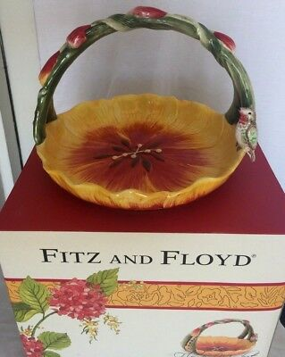 """Fitz and Floyd """"Flower Market"""" Basket  New in Box"""