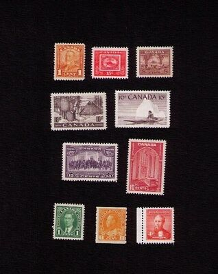 Canadian Stamps. Small Collection. High Cv Value. Mint Never Hinged. Lot6160