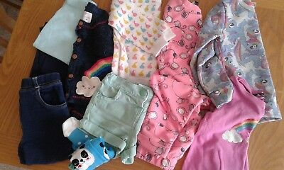 girls 12-18 months bundle clothes, warm winter from george, indigo, f and f