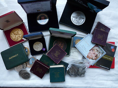 Job lot of old coins,cased medallions including 7 1951 crowns in boxes
