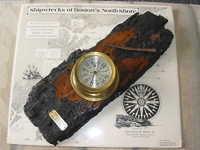 *Seth Thomas*Ships Clock, Mounted on 200+ year old Shipwreck Wood*ONE-OF-A-KIND!