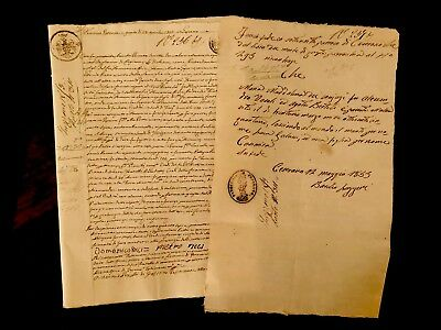 Collection of TWO 1800s Old Historical Letters