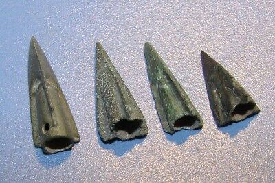 Ancient arrowheads 7 - 2 nd century BC bronze. RARE. ORIGINAL