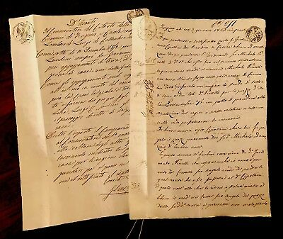 1800s Collection of TWO Handwritten Documents