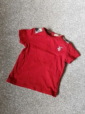 Baby Boy Red Burberry Tshirt 6 Months But Fits More Like 0-3